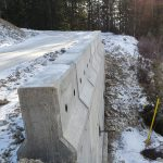 Completed RASBlox wall after concrete pour
